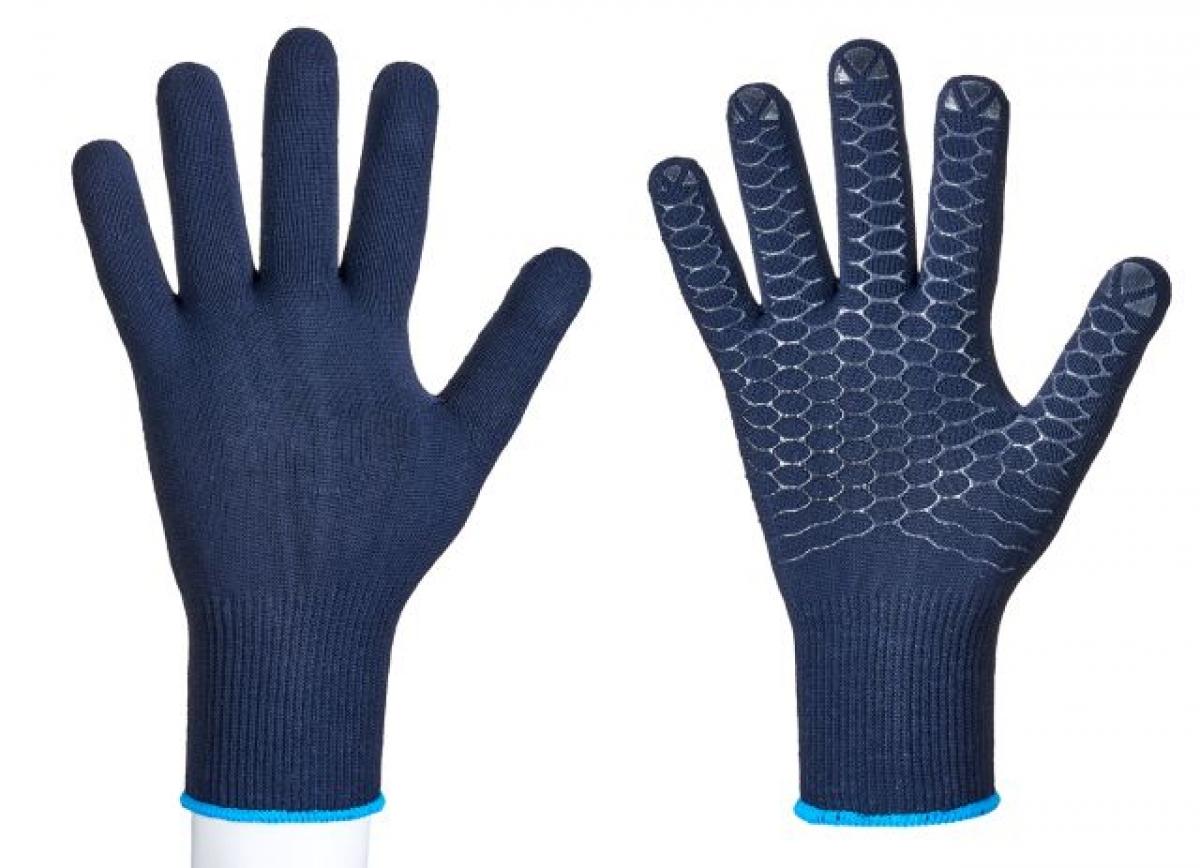 F-STRONGHAND, Strick-Arbeits-Handschuhe, LOGSTAR, blau