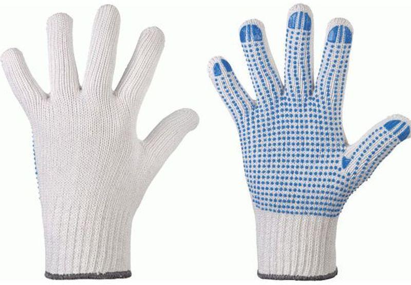 F-STRONGHAND-Strick-Arbeits-Handschuhe, KORLA, weiß mit farbigen