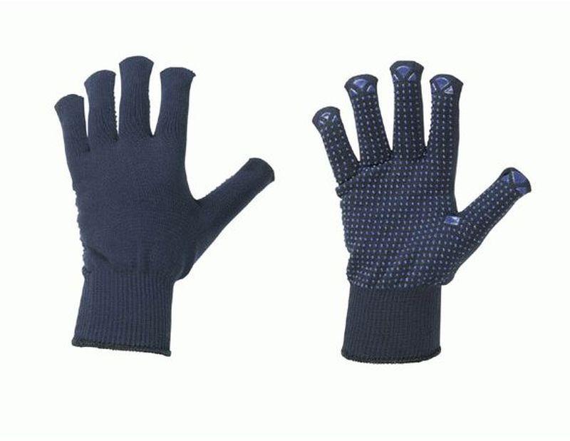 F-STRONGHAND-Strick-Arbeits-Handschuhe, HENAN, dunkelblau mit far