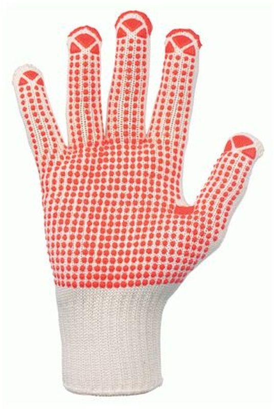 F-STRONGHAND-Strick-Arbeits-Handschuhe, NINGBO, weiß mit roten No
