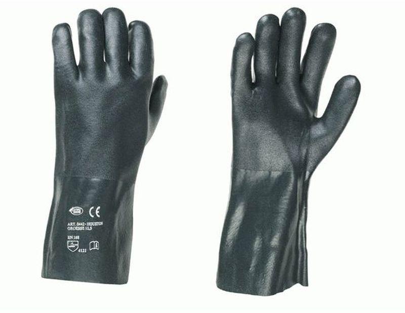 F-STRONGHAND-PVC-Arbeits-Handschuhe, HOUSTON, schwarz