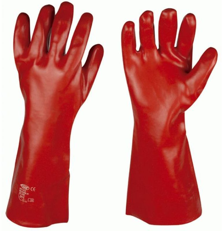 F-STRONGHAND-PVC-Arbeits-Handschuhe, DAWSON, rot