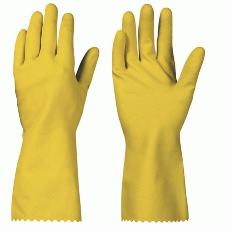 F-SURF, Latex-Haushalts-Arbeits-Handschuhe, GRANBY, gelb