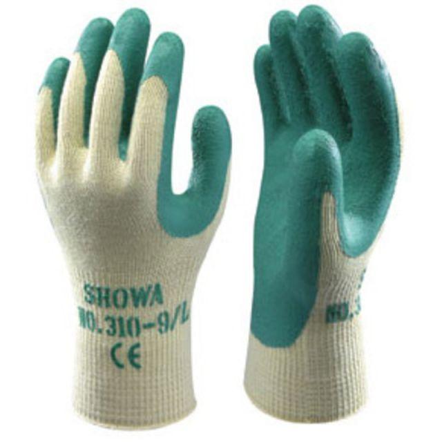 F-SHOWA-Strick-Arbeits-Handschuhe, TOPGRIP/SHOWA 310, grün