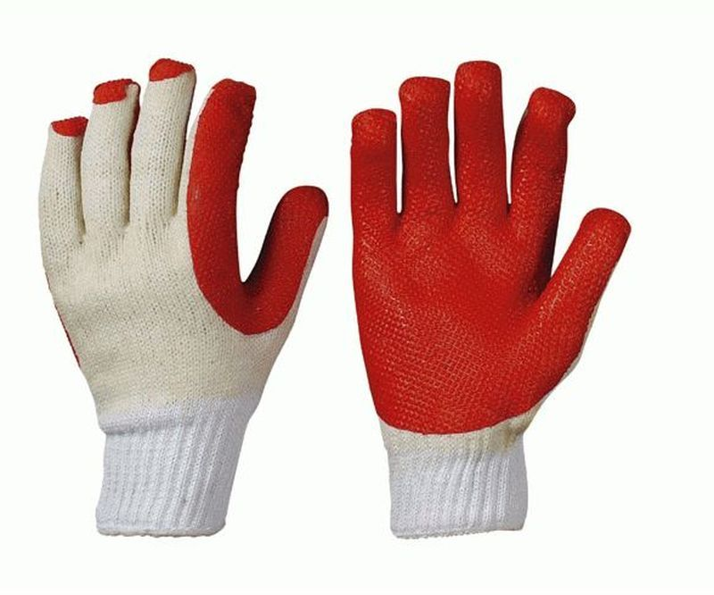 F-SOFTHAND, Grobstrick-Arbeits-Handschuhe, SUPERGRIP, rot