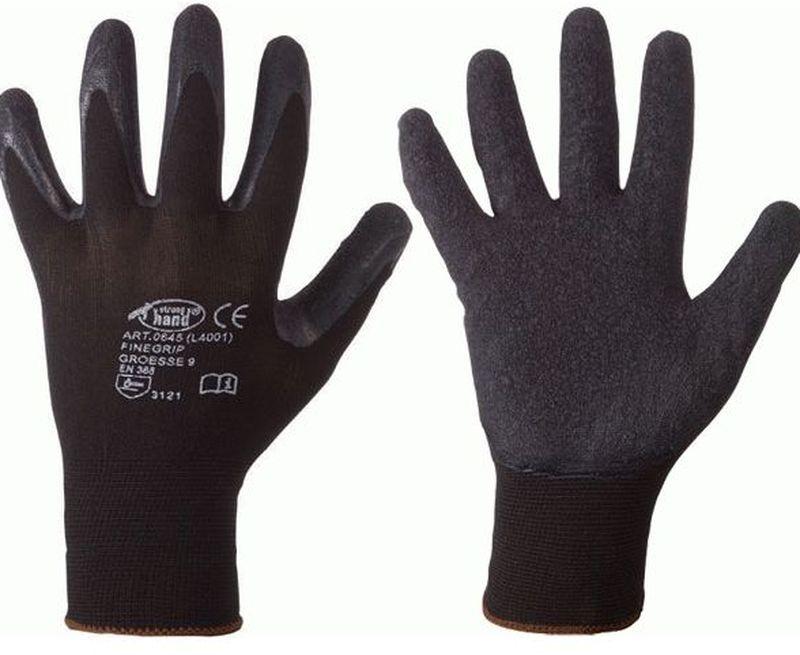 F-STRONGHAND-Feinstrick-Arbeits-Handschuhe, FINEGRIP, schwarz