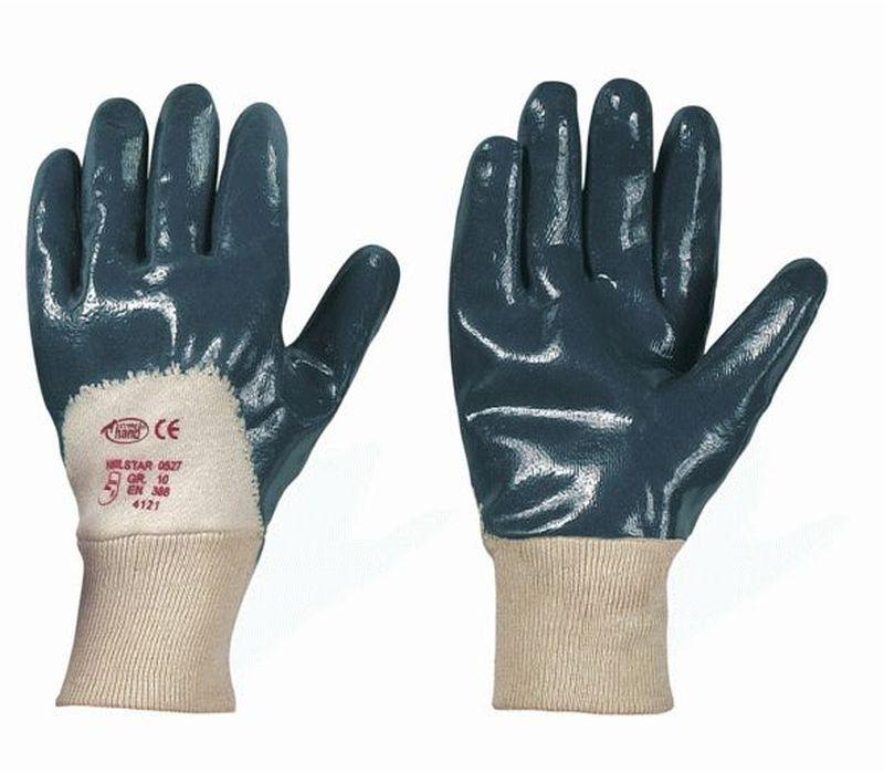 F-STRONGHAND-Nitril-Arbeits-Handschuhe, NAVYSTAR, blau