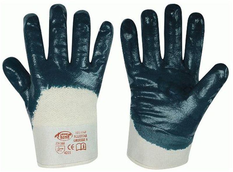 F-STRONGHAND-Nitril-Arbeits-Handschuhe, BLUESTAR, blau