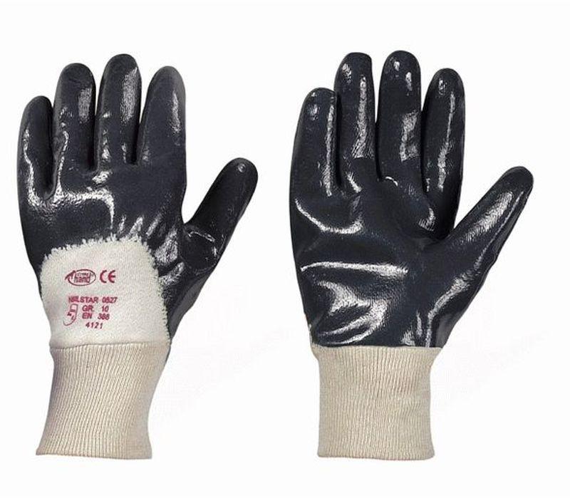 F-STRONGHAND-Nitril-Arbeits-Handschuhe, NITRILSTAR, schwarz