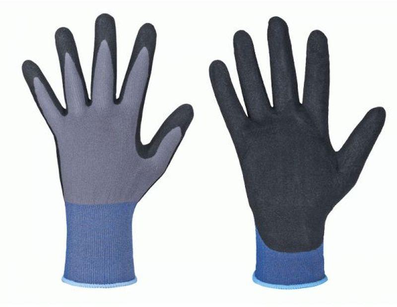 f stronghand nitril arbeits handschuhe austin grau schwarz. Black Bedroom Furniture Sets. Home Design Ideas
