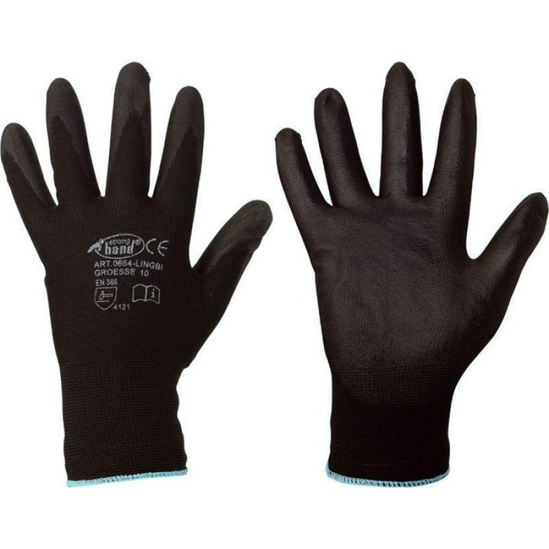 F-STRONGHAND, Nylon-Arbeits-Handschuhe, LINGBI, schwarz