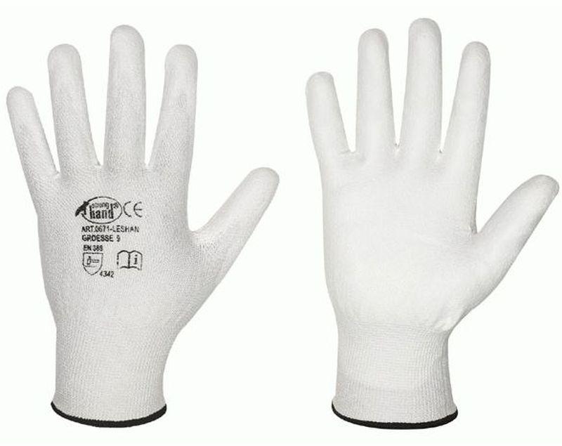 F-STRONGHAND, Schnitt-Schutz--Feinstrick-Arbeits-Handschuhe, LESHAN, weiß