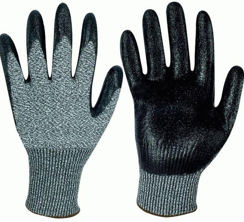 F-Schnittschutz-Arbeits-Handschuhe, MADISON, grau meliert/schwarz