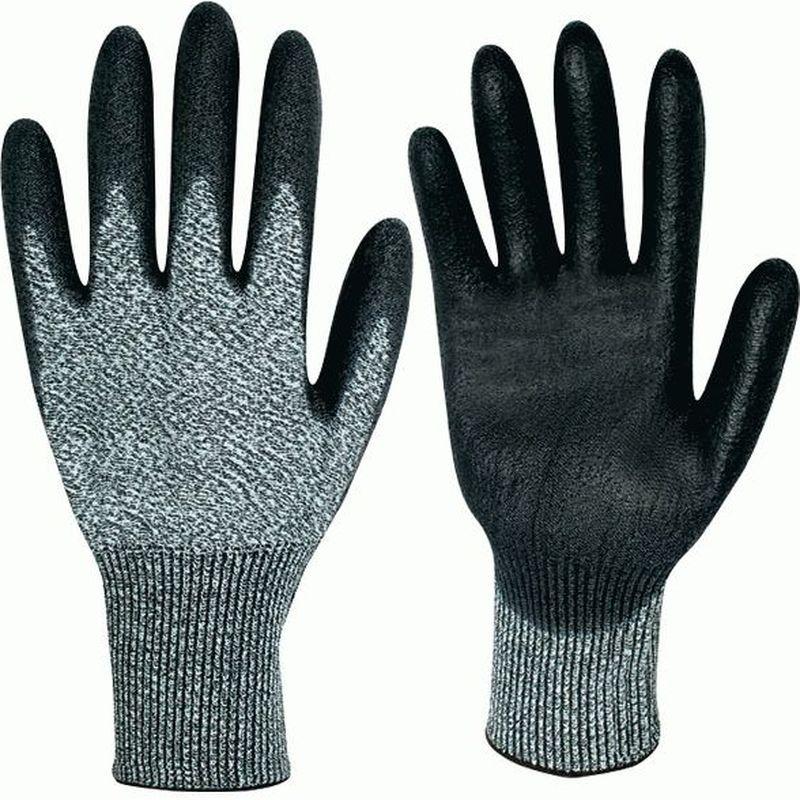 F-Schnittschutz-Arbeits-Handschuhe, AKRON, grau meliert/schwarz