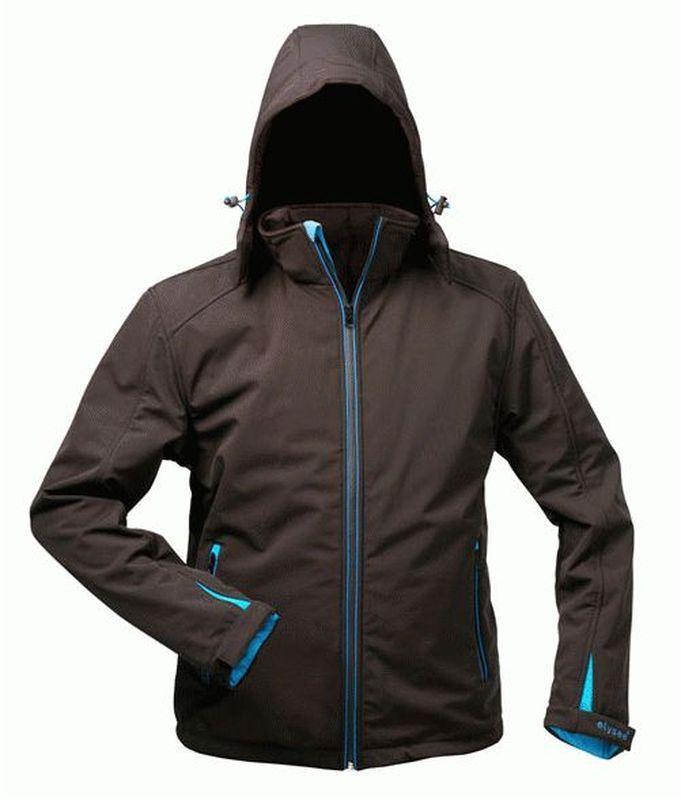 F-ELYSEE, Softshell Winter-Arbeits-Berufs-Jacke, mit Kapuze und Thinsulate-Wattierung,