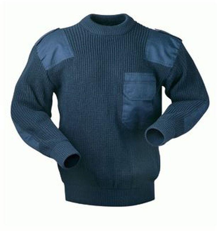 F-CRAFTLAND, Arbeits-Berufs-Strick-Pullover, NAVY, marine