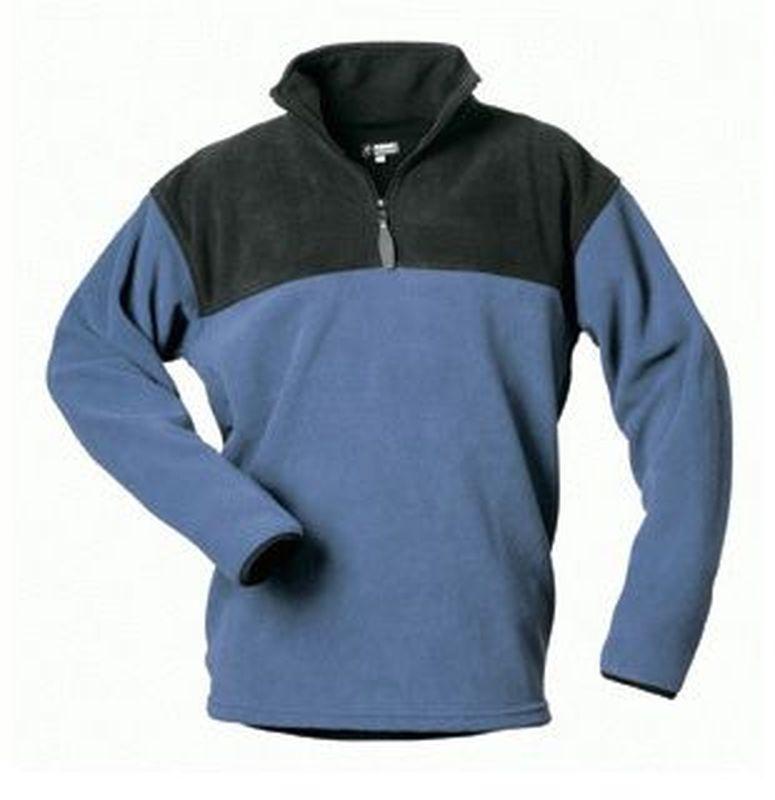 F-Craftland, Fleece-Arbeits-Berufs-Shirt, FALKE, marine/schwarz abgesetzt