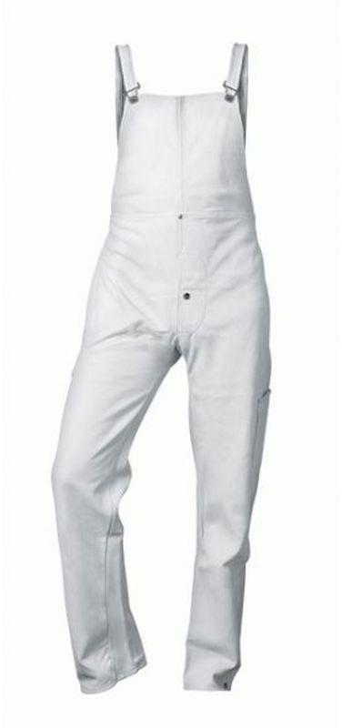 F-CRAFTLAND Schweißer-Arbeits-Schutz-Berufs-Latzhose, Lederbekleidung, NICO, weiß