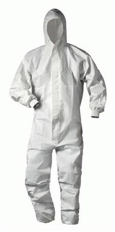 32a427aa85b4b7 FELDTMANN-TECTOR-Einweg-Schutz-Anzug, Einmal-Maler-Overall, HULSBERG, weiß