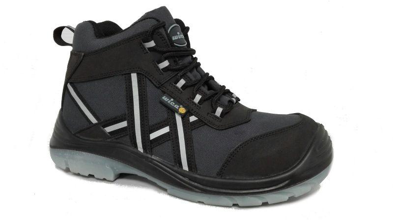 half off 630b4 83dfc F-S3-WICA-Sicherheits-Arbeits-Berufs-Schuhe, hoch, Schnürstiefel *ALENTO*  ESD, blau/schwarz
