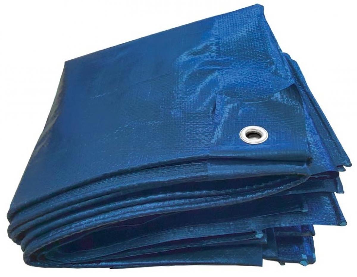 f pe gewebeplane mit aluminium sen 180g m blau. Black Bedroom Furniture Sets. Home Design Ideas