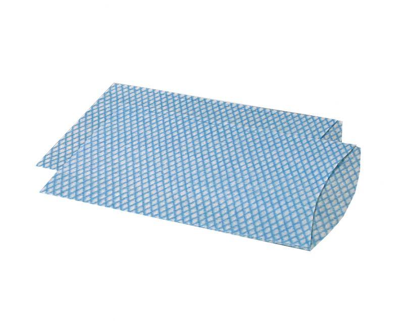 AMPRI-Hygiene, Waschhandschuhe, ECO PLUS, 15 x 22 cm, 35 g/m², VE = 1 Karton á 20 x 100 Stück, blau/weiß genäht
