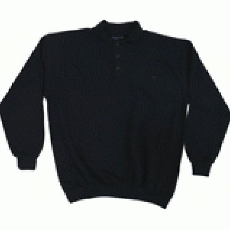 PIONIER Sweat-Shirt mit Polo-Kragen, MG270, marine