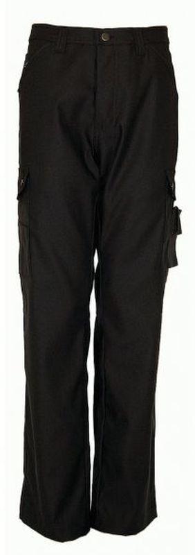 PIONIER-Workwear-Canvas-Cargo-Stretch-Arbeits-Berufs-Hose, Bundhose, MG300, schwarz