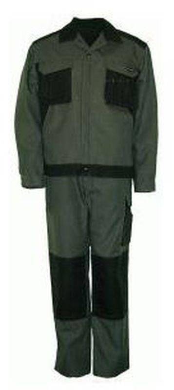 PIONIER-Workwear-Arbeits-Berufs-Bund-Hose, Canvas 2-farbig, MG 310, grau/schwarz