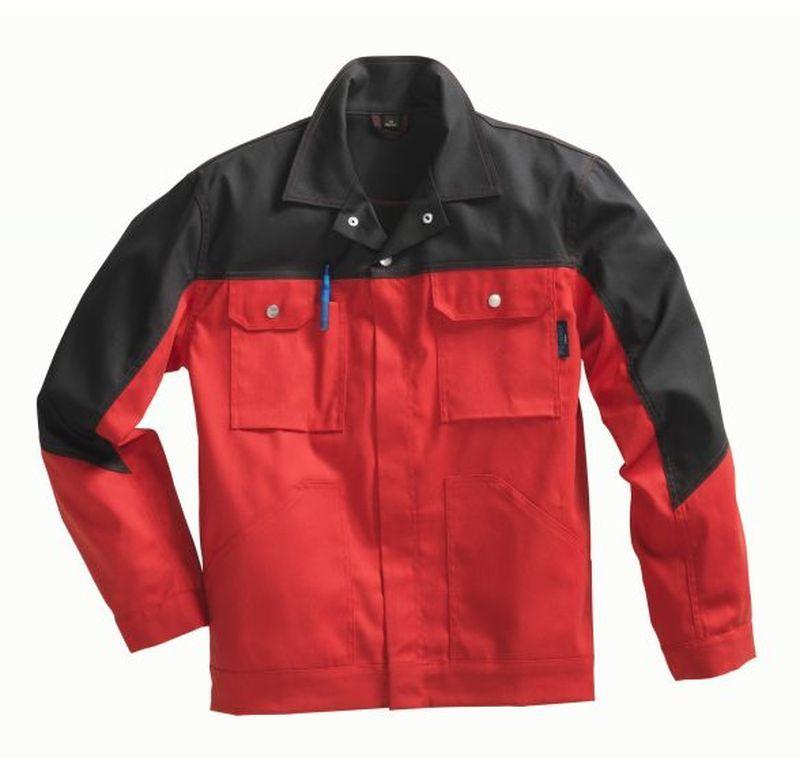 PIONIER Arbeits-Berufs-Bund-Jacke, Top Comfort Stretch, MG285, rot/schwarz