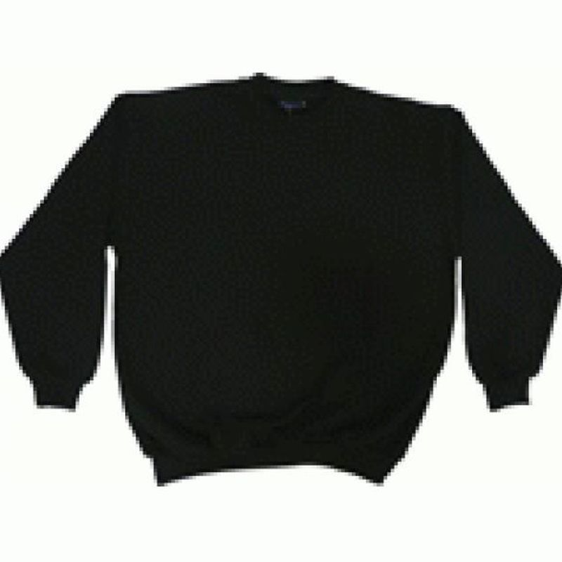PIONIER Sweat-Shirt mit Rundhals, MG270, schwarz
