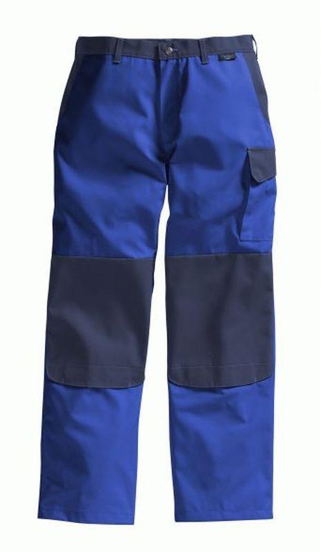PIONIER-Workwear-Arbeits-Berufs-Bund-Hose, Color Wave, MG 300, kornblau/marine