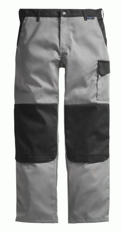 PIONIER-Workwear-Arbeits-Berufs-Bund-Hose, Color Wave, MG 300, grau/schwarz