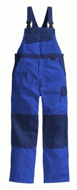 PIONIER Arbeits-Berufs-Latz-Hose, Color Wave, MG 300, kornblau/marine