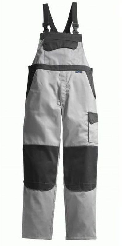 PIONIER Arbeits-Berufs-Latz-Hose, Color Wave, MG 300, grau/schwarz