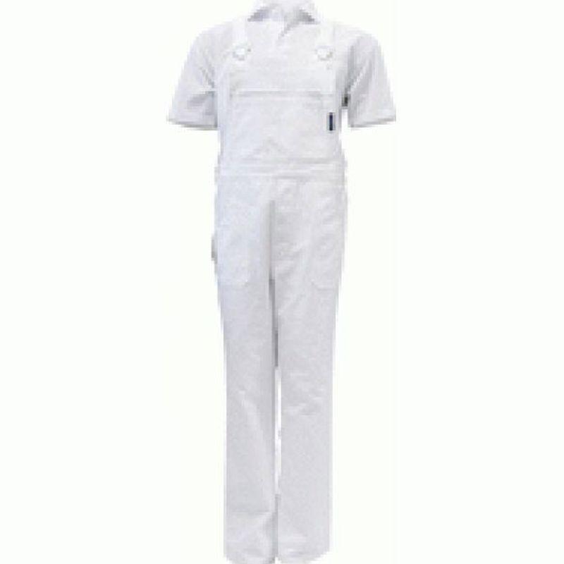PIONIER Arbeits-Berufs-Latz-Hose, Cotton Pure, BW280, weiß