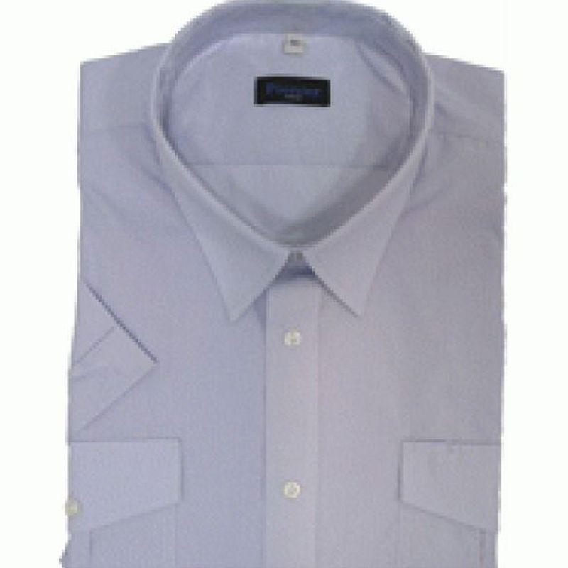 PIONIER-Business-Pilot-Arbeits-Berufs-Hemd, 1/2-Arm, MG, bleu