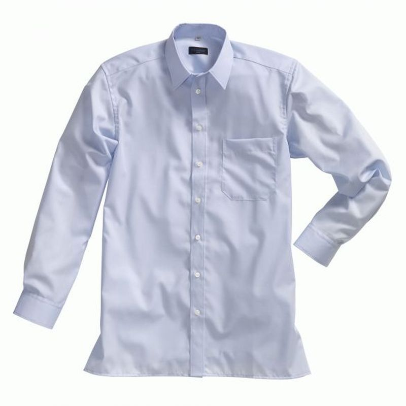 PIONIER-Workwear-Herren-Business-Arbeits-Berufs-Hemd, 1/1-Arm, BW, hellblau