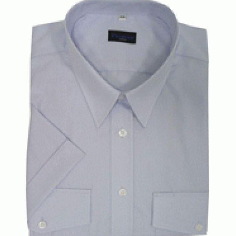 PIONIER-Business-Pilot-Arbeits-Berufs-Hemd, Kent-Kragen, 1/2 Arm, BUSINESS, hellblau