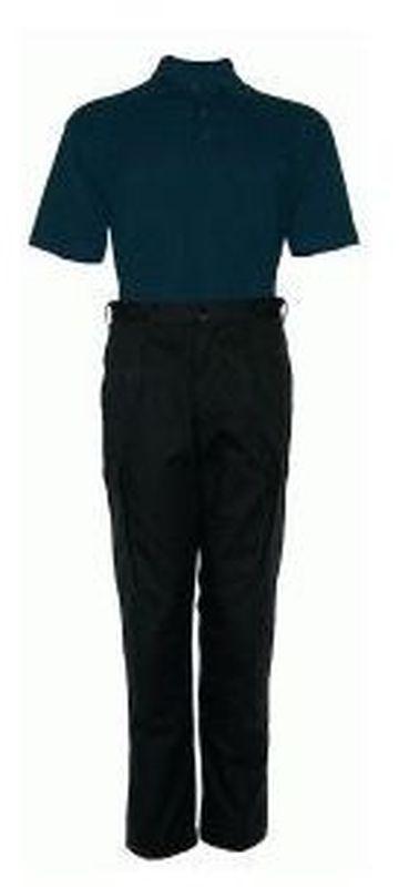 PIONIER-Workwear-Cargo-Bundhose, Arbeits-Berufs-Shorts, ca. 300g/m², schwarz