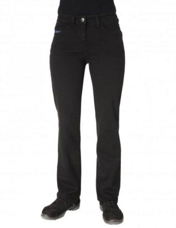 PIONIER-Workwear-Damen-Arbeits-Berufs-Jeans-Hose, Denim Workwear, black