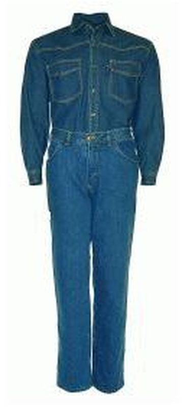 PIONIER-Denim-Jeans-Arbeits-Berufs-Hemd, 1/1-Arm, 7 1/2 oz, blue