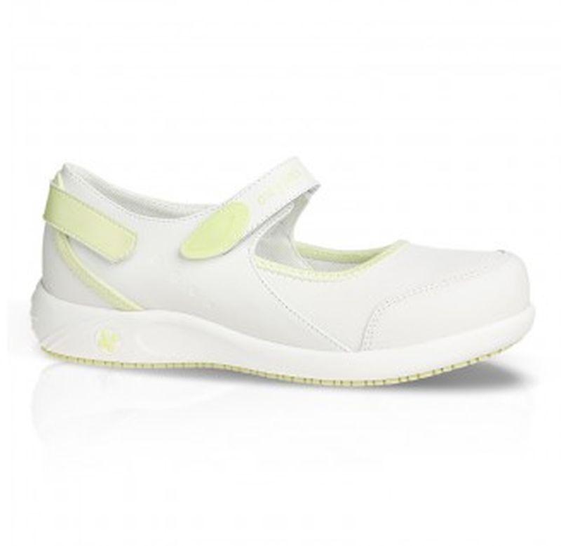 oxypas damen arbeits berufs sandalen arbeits berufs sandalen esd nelie hellgr n. Black Bedroom Furniture Sets. Home Design Ideas