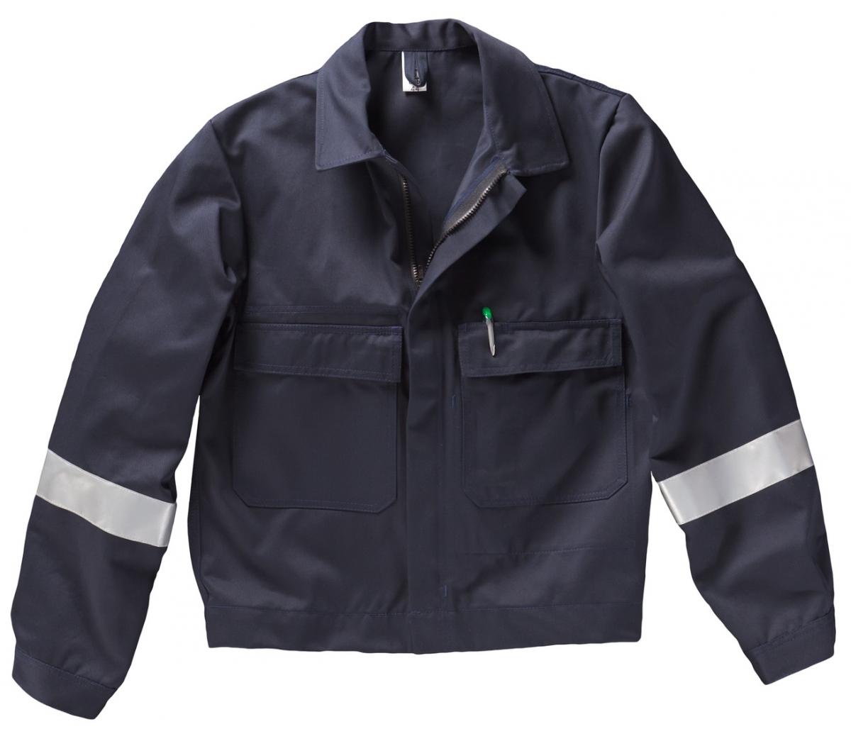 BEB-Arbeits-Berufs-Bund-Jacke, mit Reflexstreifen, Basic, MG 300, marine