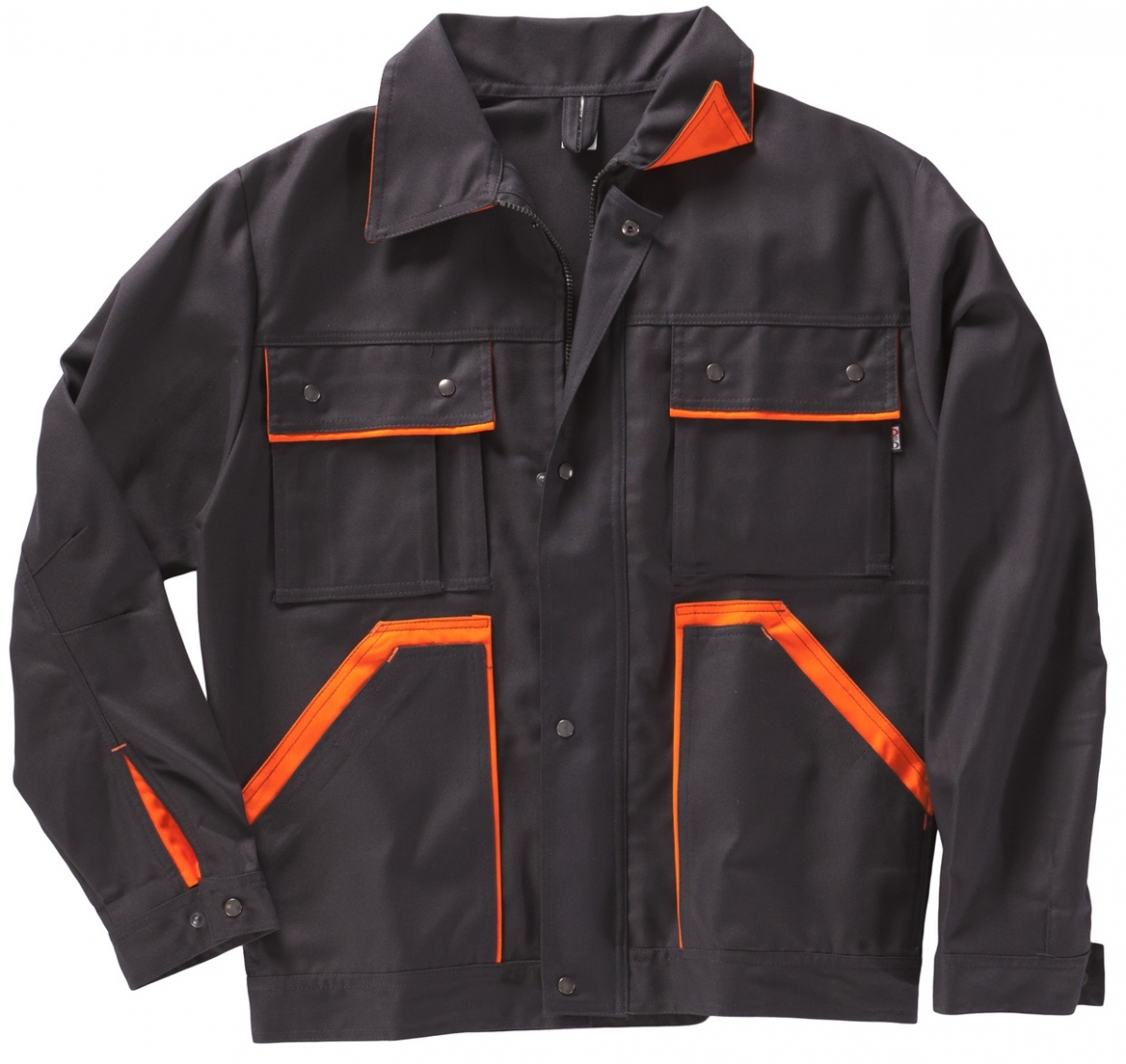 BEB-Bundjacke, Arbeits-Berufs-Jacke, Premium, MG 325, schwarz/orange