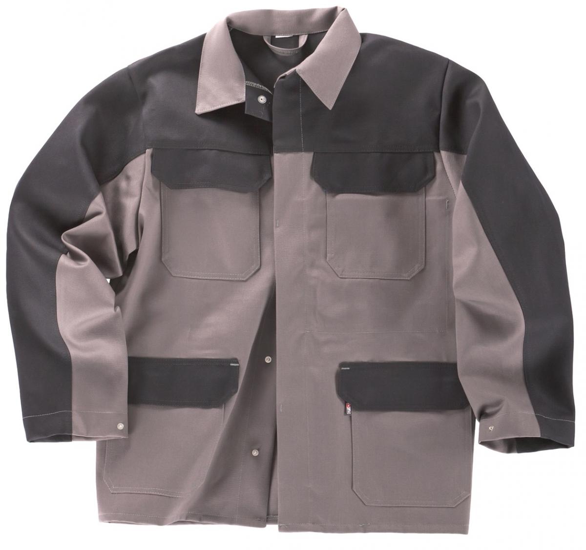 BEB-PSA-Schweißer-Arbeits-Schutz-Berufs-Jacke, BW 330, grau/schwarz