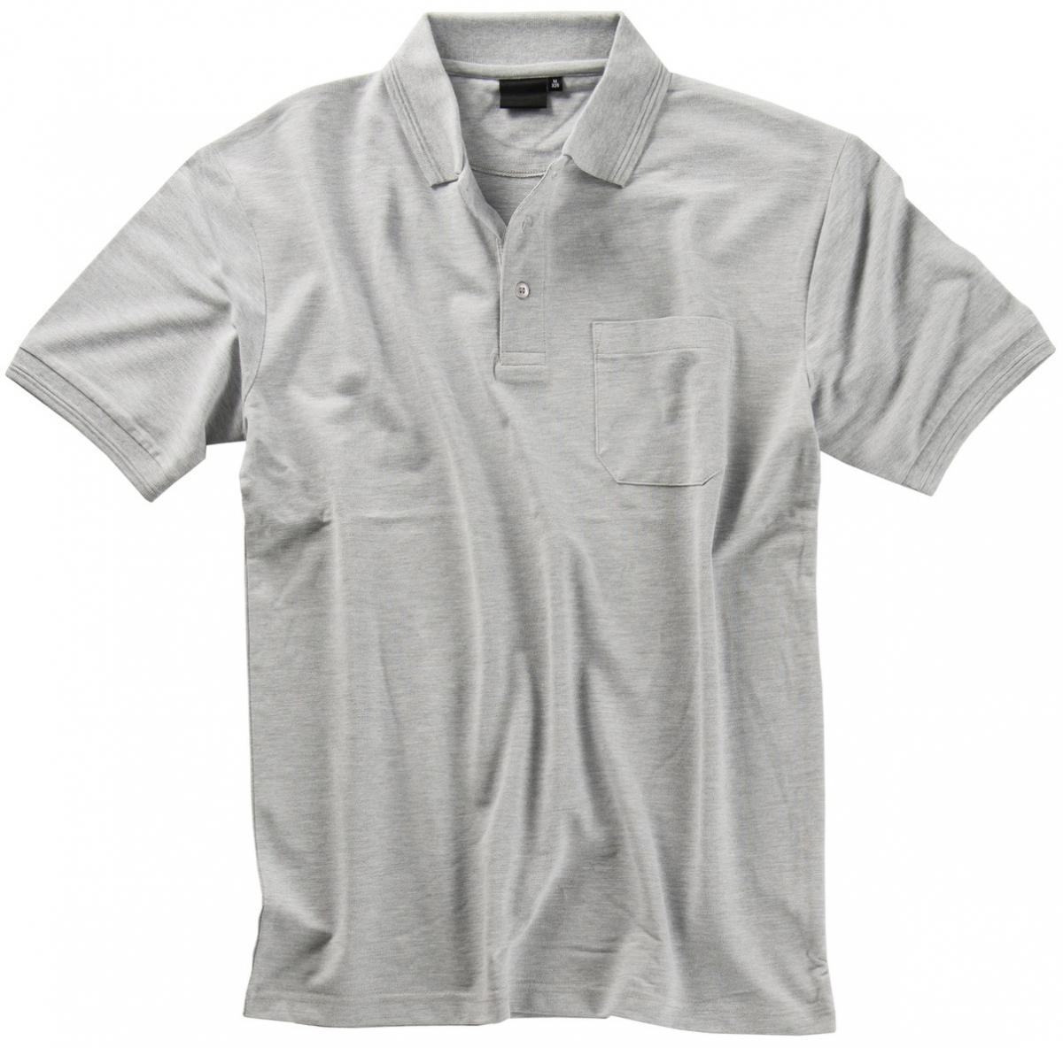 BEB Polo-Shirt Premium, MG 210/220, grau meliert