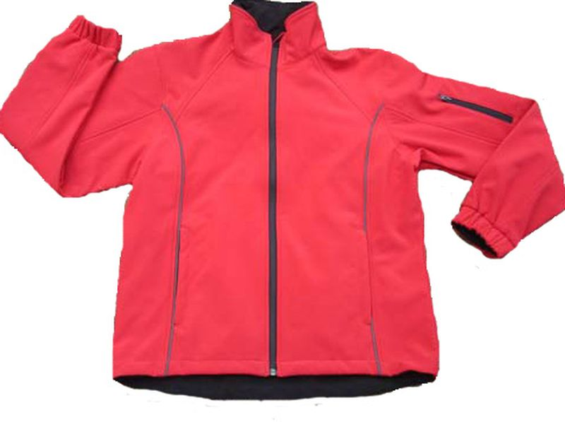 OCEAN-Soft-Shell Damenjacke, Fleece-Jacke, rot