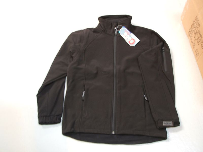 OCEAN-Soft-Shell Damenjacke, Fleece-Jacke, schwarz