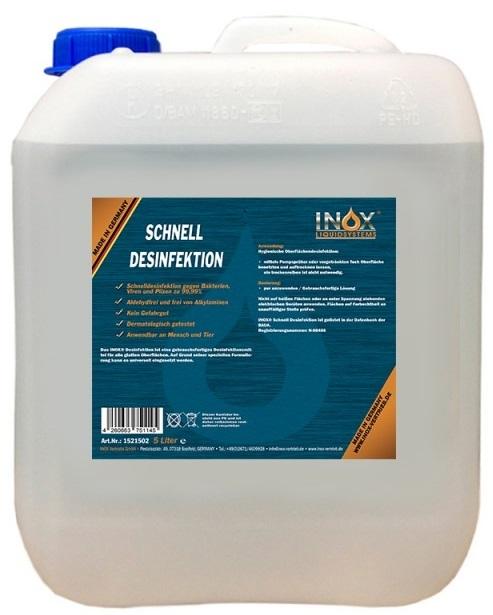 Basic-Handdesinfektion-INOX Schnelldesinfektion für Hände und Oberfläche, 5L Kanister